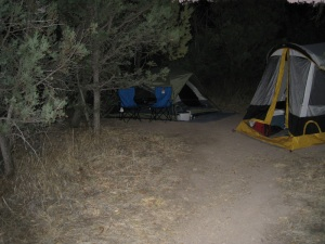 Our luxury accommodations (Thanks, Wayne)