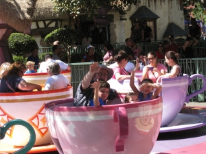 Everyone into the spinning pink teacup of doom!